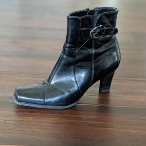 Etienne Aigner faux leather booties